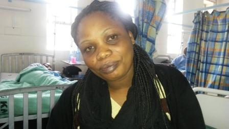 Melvin Nyamao Barongo on the eve of her fistula repair surgery at Kenyatta National Hospital.