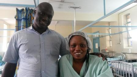 Eric Otieno and his wife Melvin Nyamao